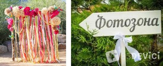 как организовать свадебную фотозону
