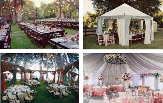 как украсить столы для свадбной церемонии