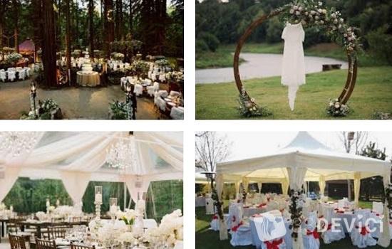 свадьба на природе - проведение торжественной части