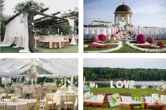 как украсить шатер для свадебной церемонии