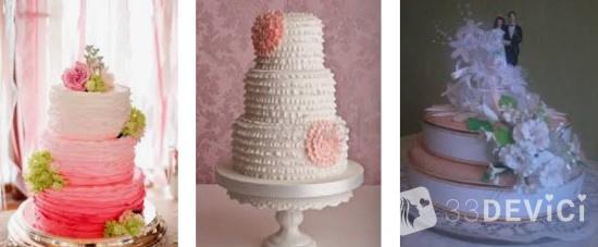 свадебный торт для праздника за городом