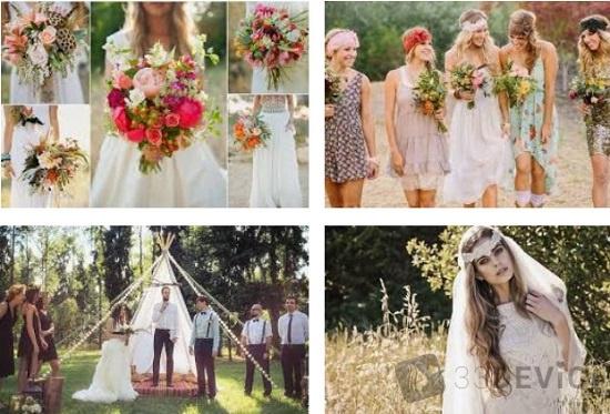 Особенности свадьбы в стиле бохо