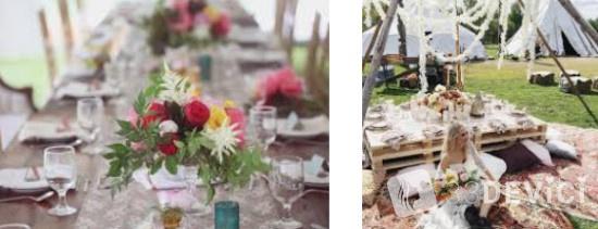 Детали декора свадебного стола и зала