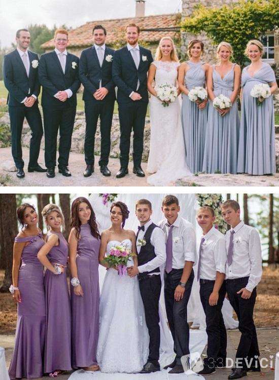 наряды на свадебной церемонии