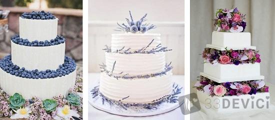 свадебный торт прованс