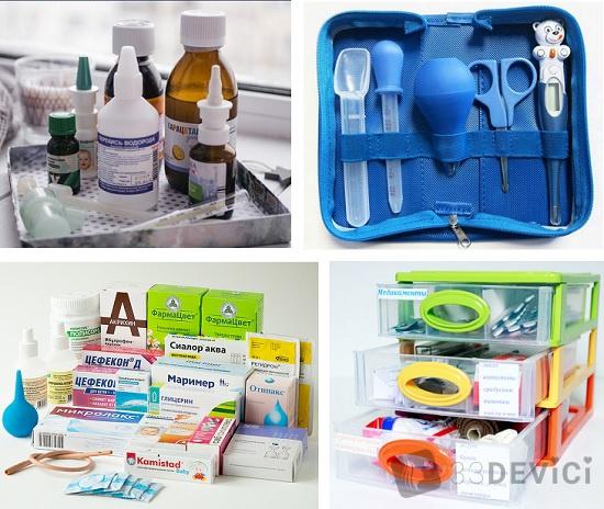 что входит в детскую аптечку для новорожденного