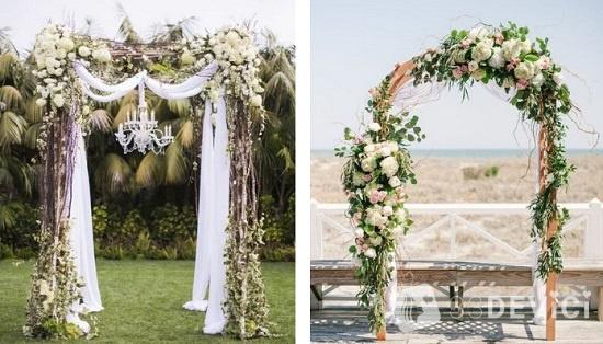 свадебные арки для выездной регистрации