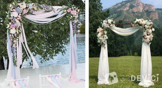как украсить свадебную церемонию