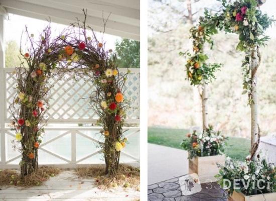 как сделать свадебную арку своими руками