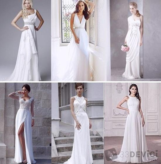 кому подойдет греческое свадебное платье