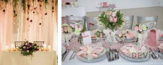 Особенности украшения свадебного стола