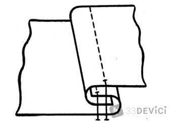 Способы выполнения запошивочных швов
