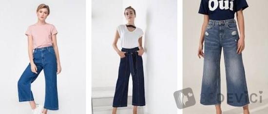 джинсы кюлоты