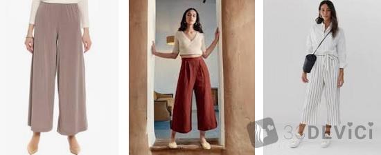 короткие широкие брюки