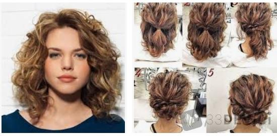 Укладка стрижки на вьющиеся волосы
