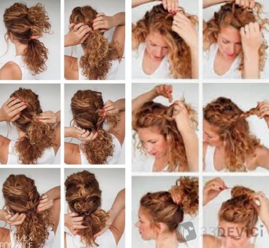 прически для кучерявых волос