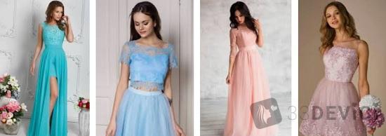 платье на школьный выпускной
