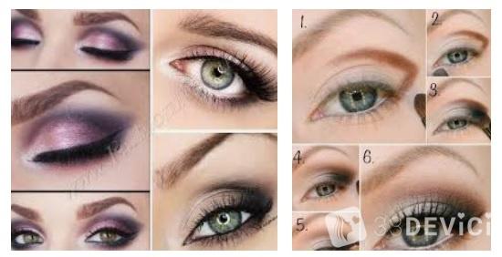 схемы макияжа для различных цветов глаз