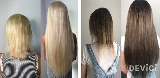 фото до и после наращивания волос